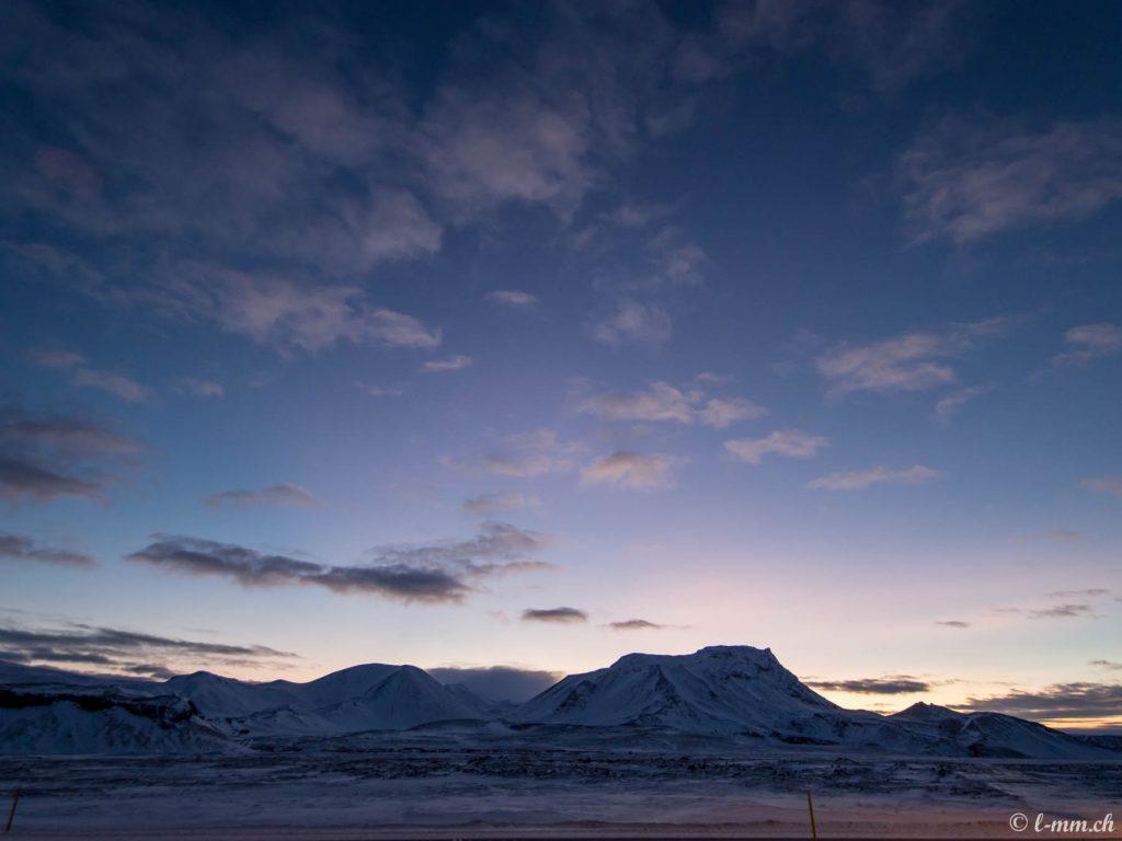 Depuis la route 1 entre Selfoss et Reykjavik