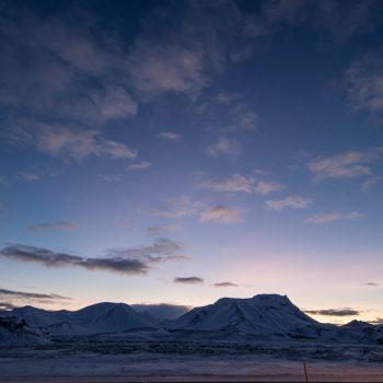 Depuis la route 1 entre Selfoss et Reykjavik - Islande