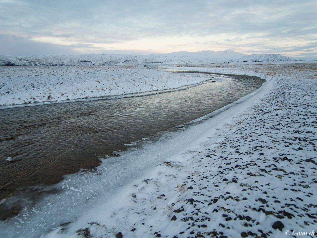 Près de la route F249 en hiver - Islande
