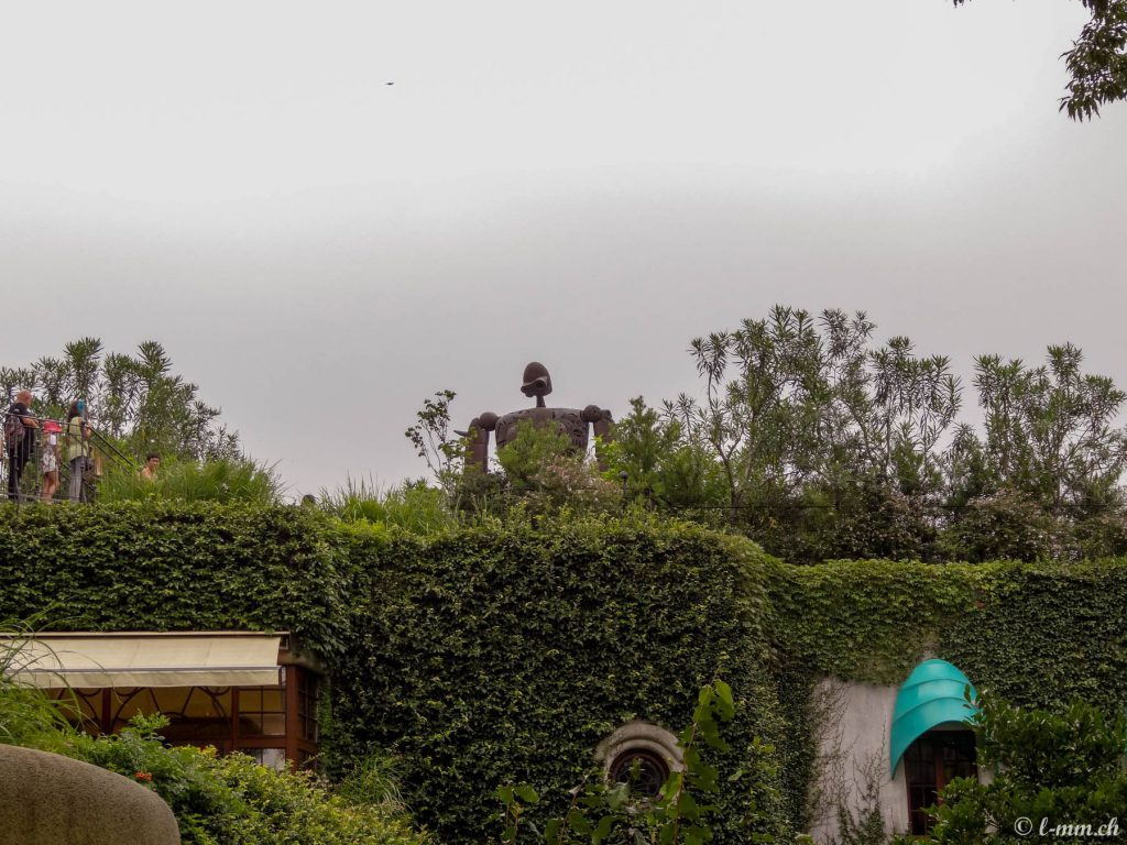 """Le robot de """"Laputa : Le château dans le ciel"""" sur le toit du Musée Ghibli (2) - Mikata - Tokyo"""