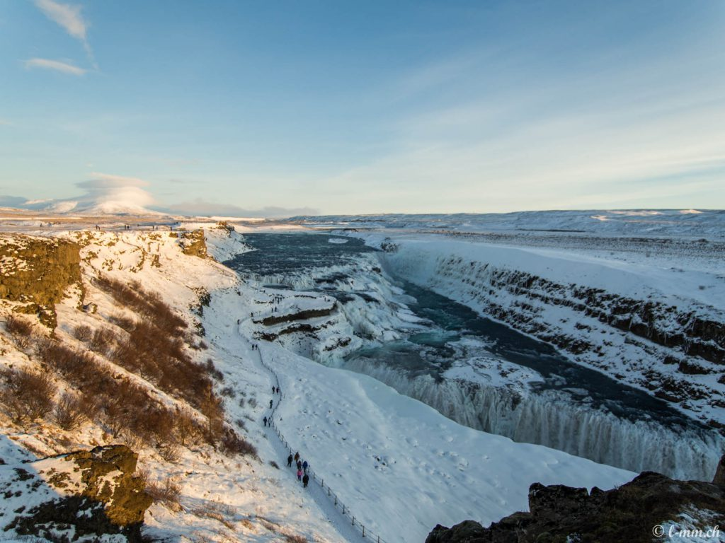 Gulfoss, vue d'ensemble - Islande