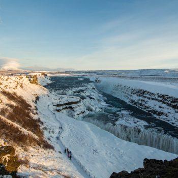 Gulfoss, vue d'ensemble - Islande