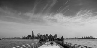 Manhattan depuis Liberty Island - New-York