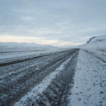 Route F249 en hiver - Islande