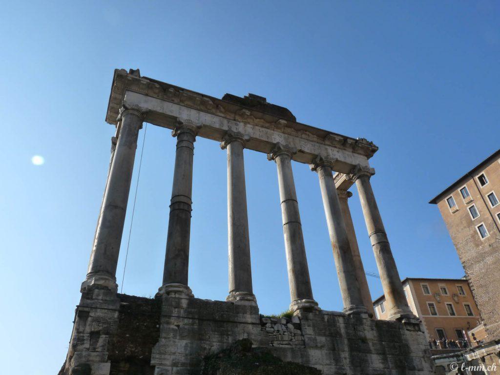 Le temple de Saturne - Le forum romain - Rome