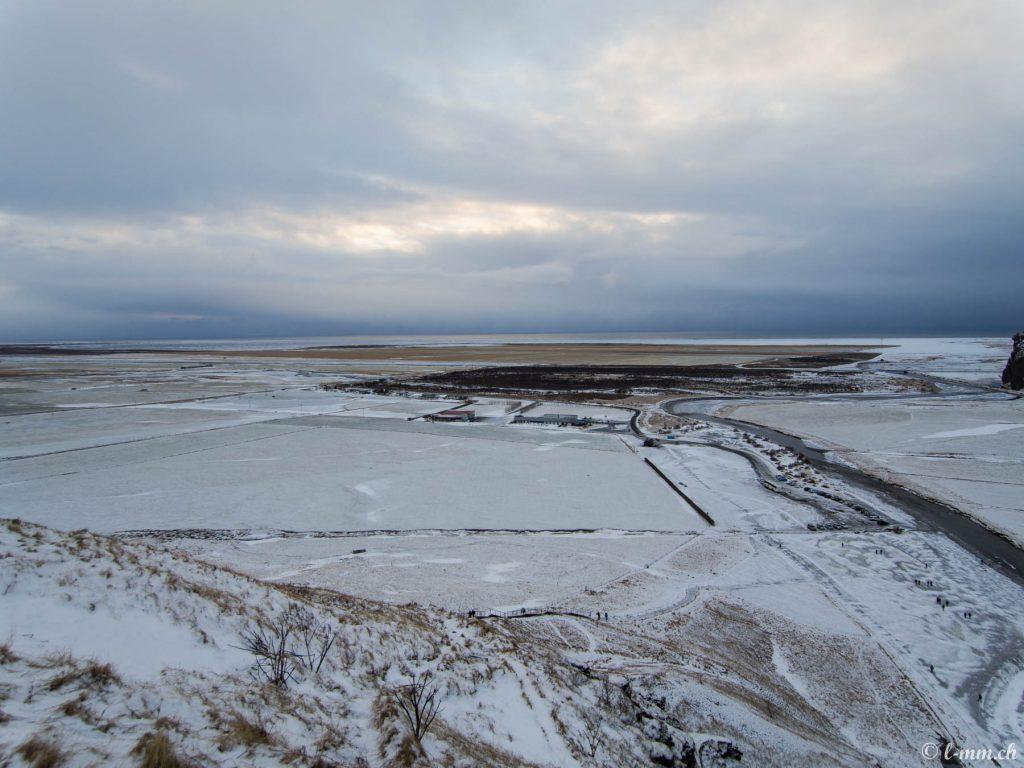 Point de vue depuis le haut de Skogafoss - Islande